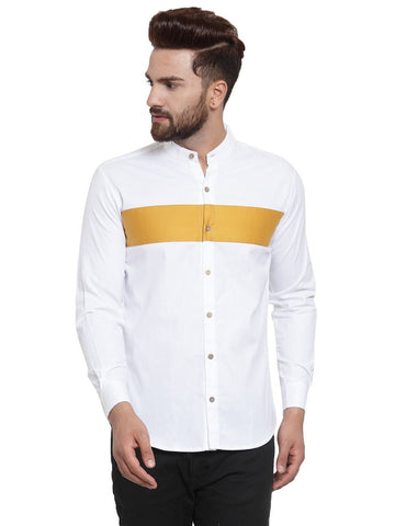 White Color Cotton Men's Shirt  - CM-ST88