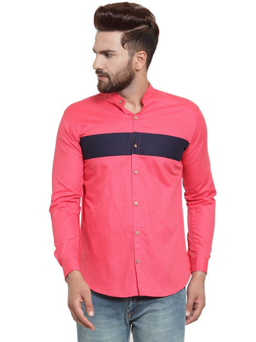 Gajri Color Cotton Men's Shirt  - CM-ST89