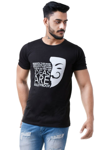 Black Color Cotton Men's TShirt  - CM-TS09