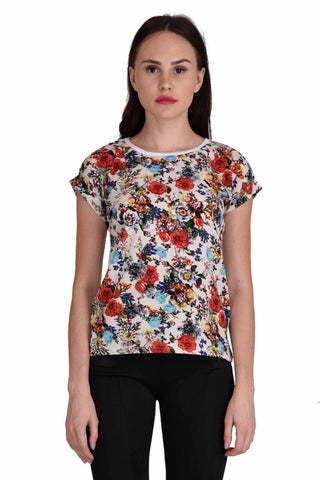 Multi Color Cotton Top - CMS-WT-001-WHFLR