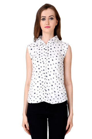 White Color Crepe Top - CMS-WT-004-WHSTR