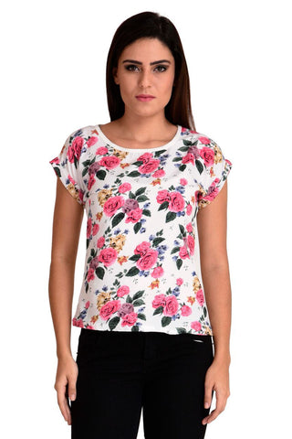 Pink Color Cotton Top - CMS-WT-006-PNKFLR