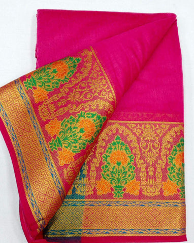 PINK-SKY BLUE Color Heavy silk Dyeing material Saree - COTTON SILK-08