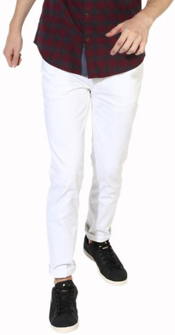 Calcium Skinny Men's White Denim Jeans - CalciumWhite11