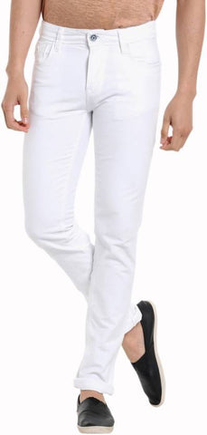 Calcium Skinny Men's White Denim Jeans - CalciumWhite13