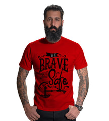 Buy Red Color 160 GSM And Cotton Mens Tshirt