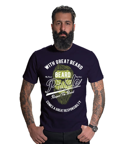 Navy Blue Color 160 GSM And Cotton Mens Tshirt - CapsulaBeard