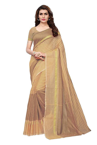 Beige Color Chanderi Cotton Saree  - Chanderi-Cotton-2