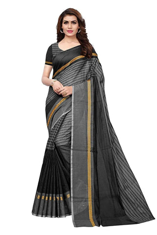 Black Color Chanderi Cotton Saree  - Chanderi-Cotton-8