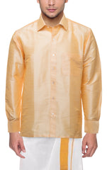 Buy Chandan Color Art Silk Dupion Mens Shirt