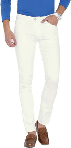 Halogen Skinny Men's White Denim Jeans - CopperStone-Jeans-BNG0011
