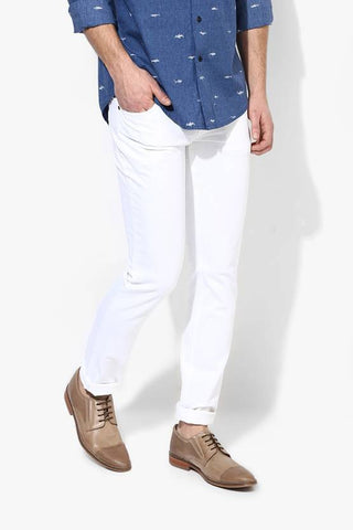 Halogen Skinny Men's White Denim Jeans - CopperStone-Jeans-BNG0013