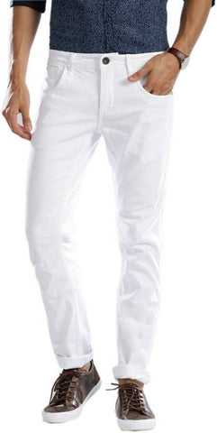 Halogen Skinny Men's White Denim Jeans - CopperStone-Jeans-BNG001