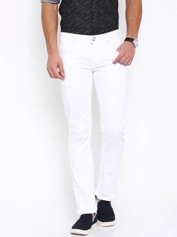Halogen Skinny Men's White Denim Jeans - CopperStone-Jeans-BNG006