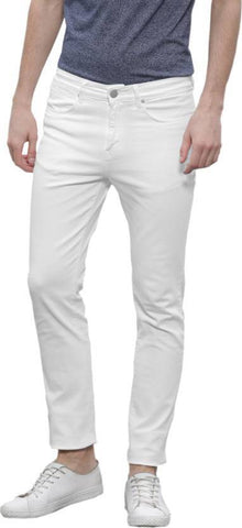 Halogen Skinny Men's White Denim Jeans - CopperStone-Jeans-BNG007