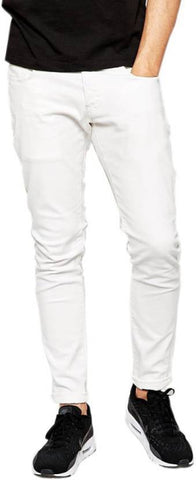 Halogen Skinny Men's White Denim Jeans - CopperStone-Jeans-BNG008