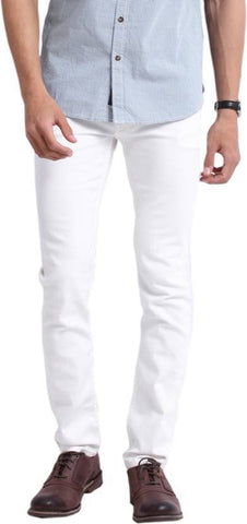 Halogen Skinny Men's White Denim Jeans - CopperStone-Jeans-BNG009