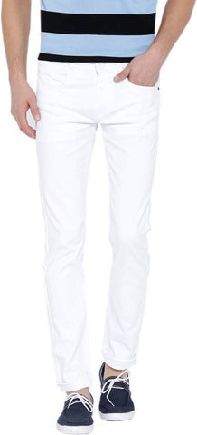 Halogen Skinny Men's White Denim Jeans - Copperstone-Jeans-BNG004