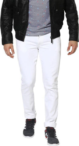 Halogen Skinny Men's White Denim Jeans - Copperstone-Jeans-HAL001