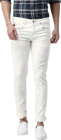 Halogen Skinny Men's White Denim Jeans - Copperstone-Jeans-HAL002