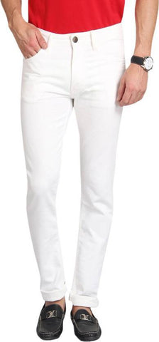 Lawson Skinny Men's White Denim Jeans - Copperstone-ULS002