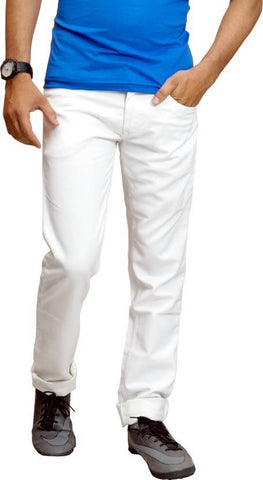 Lawson Skinny Men's White CottonSpandexDenim Jeans - CopperstoneWhiteLawson02