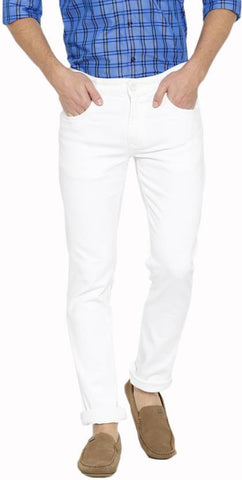 Lawson Skinny Men's White CottonSpandexDenim Jeans - CopperstoneWhiteLawson04