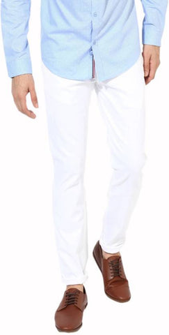 Lawson Skinny Men's White CottonSpandexDenim Jeans - CopperstoneWhiteLawson06