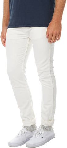Lawson Skinny Men's White CottonSpandexDenim Jeans - CopperstoneWhiteLawson07