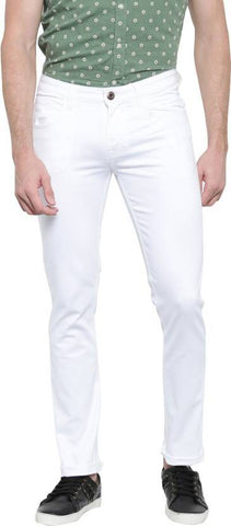 Lawson Skinny Men's White CottonSpandexDenim Jeans - CopperstoneWhiteLawson08