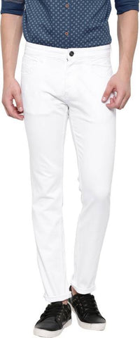 Lawson Slim Men White CottonSpandexDenim Jeans - CopperstoneWhiteLawson09