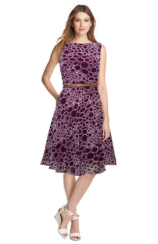 Wine Color Georgette Women's Dress - D-131_Stone_Wine