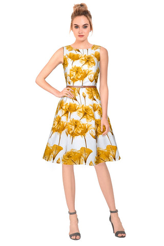Yellow Color Crepe Women's Dress - D-144_Parle_Yellow
