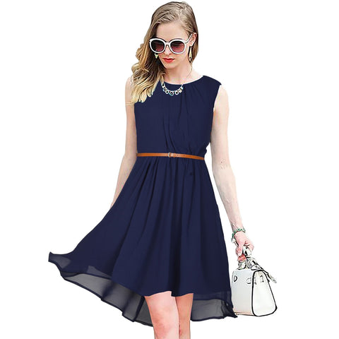 Blue Color Georgette Women's Dress - D-148_Sydney_Blue