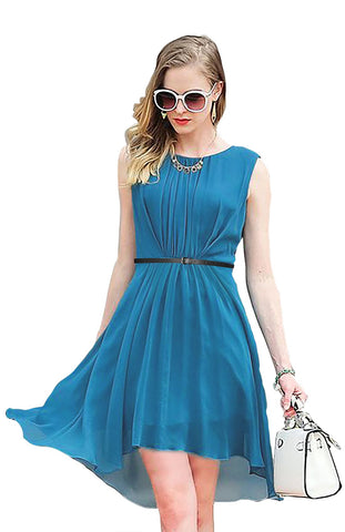 Green Color Georgette Women's Dress - D-149_Sydney_C_Green