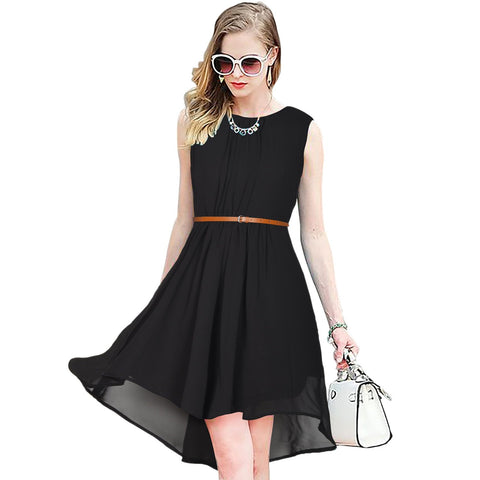 Black Color Georgette Women's Dress - D-150_Sydney_Black