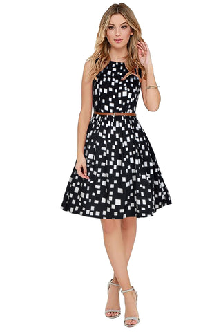 Black Color Crepe Women's Dress - D-181_Highway_Black