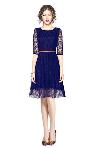 Blue Color Rasal Women's Dress - D-30_Rich_Blue
