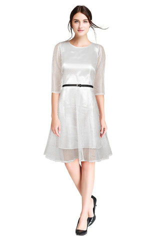 White Color Lace Women's Dress - D-37_Maxican_White