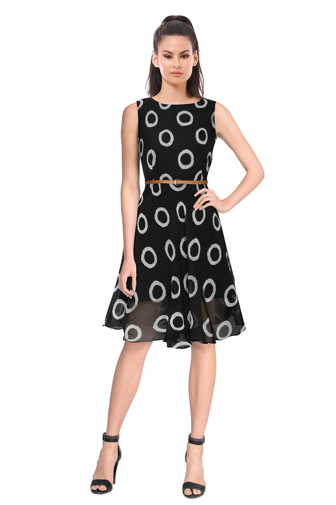 Buy Black Color Georgette Women's Dress