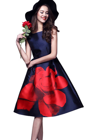 Blue Color Satin Women's Dress - D-99_Rosy_Blue
