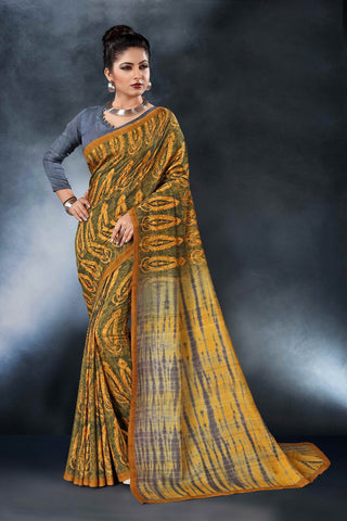 Multi Color Tussar Silk Saree - D.NO-1553