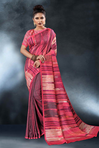 Multi Color Tussar Silk Saree - D.NO-1556