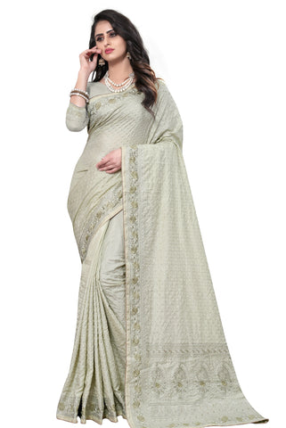 sea Green Color Georgette Rangoli Women's Saree - D.NO-2519