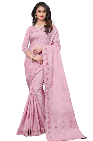 Pink Color Georgette Rangoli Women's Saree - D.NO-2520
