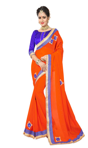 Fanta  Color Marba Chifon Saree - D.NO.-1747