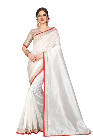 White Color Zoya Art Silk Saree - D.NO.-1751