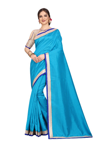 Sky Color Zoya Art Silk Saree - D.NO.-1757