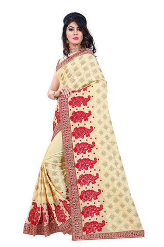 Yellow Color Georgette Saree  - D.NO.-186