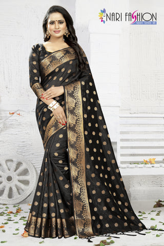 Black Color Banarasi Art Silk Women's Saree - D.NO.-1952